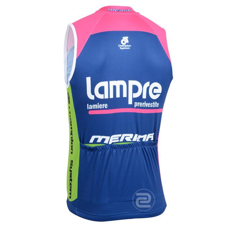 2014 LAMPRE PRO TEAM MERIDA BLUE SOLO CORTO SENZA MANICHE CICLISMO JERSEY CYCLING WEAR SIZE: XS-4XL L013