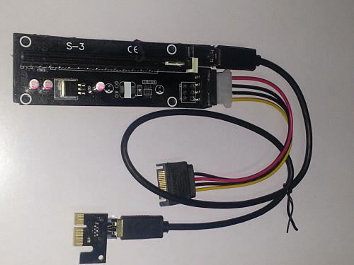 بالجملة - 1PC PCI-E PCI E Express 1x إلى 16x Riser موسع بطاقة محول مع 50CM USB 3.0 كابل الطاقة لبيتكوين