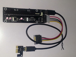 Wholesale - 1PC PCI-E PCI E Express 1x to 16x Riser Extender Adapter Card with 50cm USB 3.0 Cable power for bitcoin