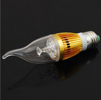 Wholesale Led Candle Light Bulb B22 - Wholesale - Cree LED E14 E12 B22 Candle bulbs light lamp Dimmable 9W led spotlights Warm Pure Cool White