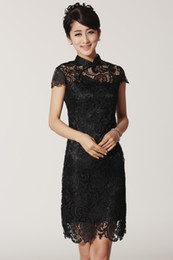 $enCountryForm.capitalKeyWord Canada - Shanghai Story 2017 New Arrival Black Color Chinese style dress Lace cheongsam Women's Lace Qipao cheong-sam Mini Evening Dress S-XXL 2365-2