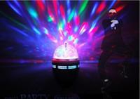 mini bola de cristal mágica girando venda por atacado-3 W E27 Cristal Bola Mágica Luzes LED Luzes de Palco de Efeitos RGB 360 Rotação de Luz Laser Para Festa Disco DJ Bar Mini Estilos
