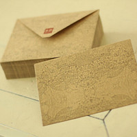 Wholesale Mail Supplies - Retro Dream World Envelopes Bags Small Kraft Paper Mail Bag Transport Packaging Supplies 20pcs lot SH618