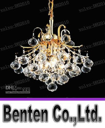 Wholesale Style Mini Rooms - LLFA5456 Free shipping K9 Crystal Pendet Chandelier Light Gold or Chrome Mini Chandelier with European Style