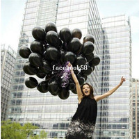 Wholesale Toy Black Pearl Ship - 100pcs Free shipping wholesale 10 inch 1.5g (Thickening) pearl Round black Latex Balloons,Wedding Party Decoration,kid's Toys