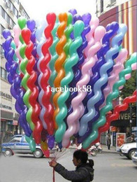 Wholesale Spiral Latex Screw Balloon - Wholesale 200Pcs Lot Screwed Latex Twisting Spiral Balloons Conventional Festival Balloons Wedding Party & Holiday Decoration