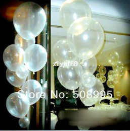 Wholesale Clear Latex Balloons - Free shipping 100pc lot 12inch Clear Transparent Wedding Birthday Party Ballons Decoration Supplies Latex helium Balloon