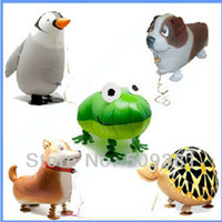 Wholesale Walking Animal Foil Balloon - New Arrival! 50 pcs Lot, Free Shipping, Wholesale, Various Aluminum Foil Helium Walking Animal Pet Balloons, Baby's Toy & Gift.