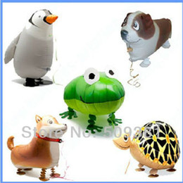 wholesale toys free shipping Coupons - New Arrival! 50 pcs Lot, Free Shipping, Wholesale, Various Aluminum Foil Helium Walking Animal Pet Balloons, Baby's Toy & Gift.