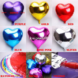 Wholesale Inflatable Hearts - 20pcs lot heart model 18 -inch Inflatable Aluminum Foil Balloons for Wedding Birthday Party decoration mixed free shipping!