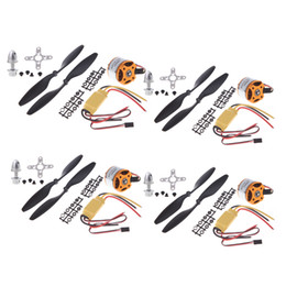 Wholesale Motor Brushless For Aircraft - 4pcs A2212 1000KV Brushless Outrunner Motor + 4pcs HP 30A ESC + 4pcs 1045 Prop (B) Quad-Rotor Set for RC Aircraft Multicopter RM413