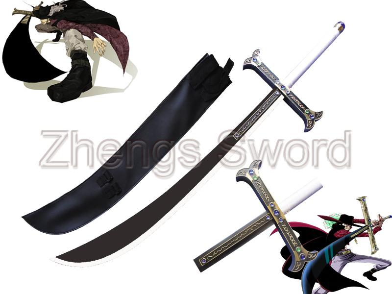 Japanese anime one piece greatest swordsman in the world hawk eyes dracule mihawks large sword manga sword decorative sword one piece sword anime sword