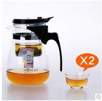 Wholesale Glass Pot Cup - free shipping Kamjove tp-757 tea cup tea pot elegant cup glass tea set glass cup
