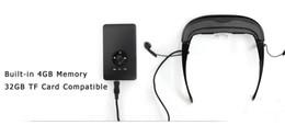 Wholesale Iphone Video Eyewear - Smart Video Glasses Virtual Screen with AV input for DVD Xbox Mp4 Mp5 iPhone Games Player Cinema Eyewear Free Shipping