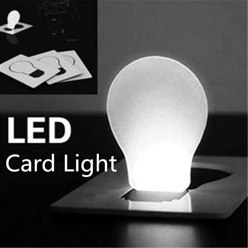 Nouvelle arrivée LED nouveauté lumière carte de crédit LED lumière portative LED poche poche lampe lampe portefeuille carte de crédit mini lumière de nuit