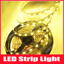 Wholesale Cheap White Leds - SMD LED Strip Light 5050 5M 300 Leds Warm White Cool White RED Blue Yellow Green RGB LED Strips Light Non-Waterproof 12V 15M lot Cheap