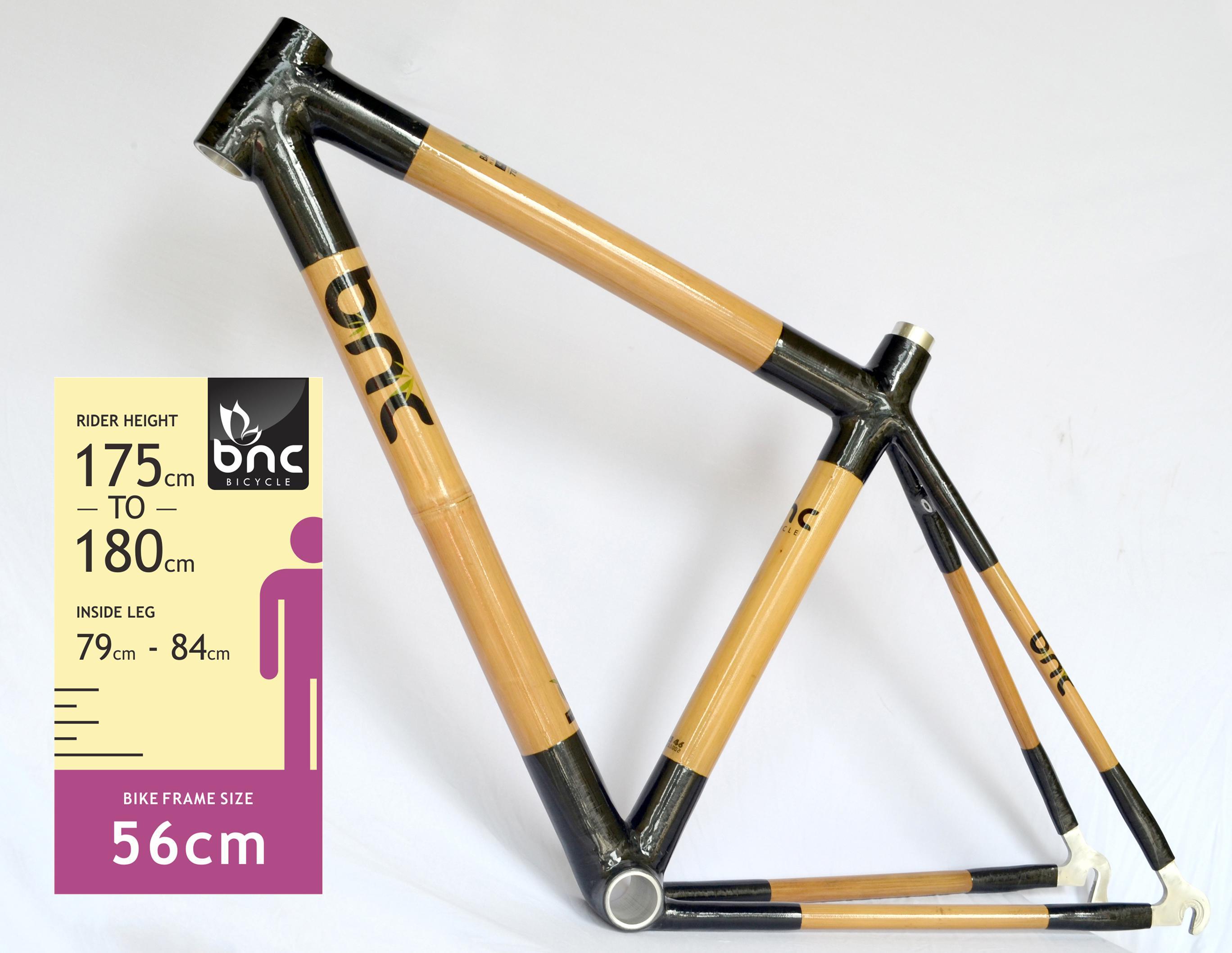 56cm Bamboo Road Bike Frame Rq2356 Bicycles Mountain Bike ...