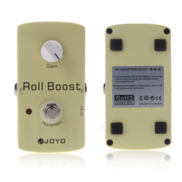 Wholesale Effect Pedal Boost - 35dB Boost JOYO JF-38 Electric Violao Guitarra Guitar Parts Effect Pedal Roll Boost Clean Volume True Bypass Design 2014 New I288