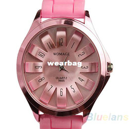 Wholesale Quartz Watches Korea - Wholesale-korea women's dresses Fashion Silicone Quartz Sports Watch Men Women ladieds Dress Geneva Jelly WristWatch free shipping product