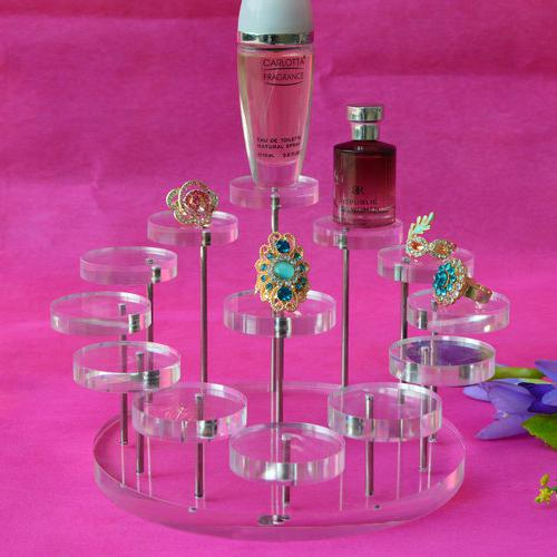 top popular Acrylic Small Ring Earring Jewelry Display Stand Holder Nail Polish Perfume Cosmetic Organizer Display Stand Micro-Cap Show Rack 2021