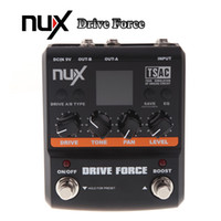 Wholesale Nux Drive - NUX Guitar Drive Force Modeling Stomp Simulator Electric Effect Effectors Pedals 10 Models Color Screen Musical Instrument Parts I299