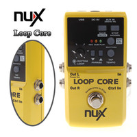 Wholesale Guitar Loop - NUX Loop Core Violao Guitar Electric Effect Pedal 6 Hours Recording Time Built-in Drum Patterns Musical Instrument Parts I301