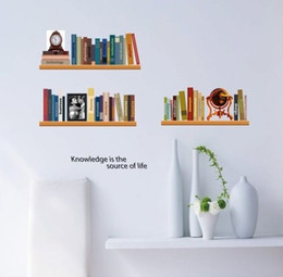 $enCountryForm.capitalKeyWord Canada - [listed in stock]-Removable Vintage Roman holiday Book Shelves Art Mural Wall Sticker 50x70cm