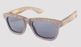 Bamboo Finish UK - cool polarized gray lens antique finish bamboo sunglasses on sale drop shipping