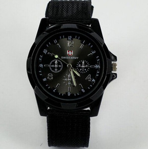 Cool Boy watches Swiss Summer Men Sport Military Army Pilot Fabric Strap Sports Men's Swiss Military MEN Watch on Sale