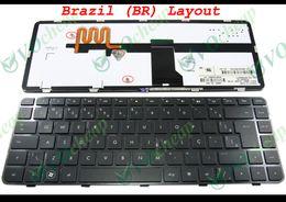 Wholesale Hp Teclado - New Laptop keyboard for HP Pavilion DM4 DM4-1000 DM4-2000 DV5-2000 DV5-2100 with Frame Black Teclado BR Brazilian - 597911-201