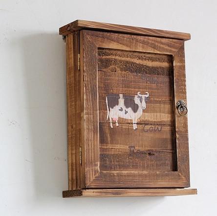 2018 Wood Storage Key Box With 6 Hooks Wooden Key Cabinet