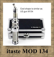 Wholesale Itaste 134 Wholesale - Innokin itaste 134 MOD Original itaste M134 iclear 30 atomizer Clearomizer Variable Wattage 18650 battery Luxury and Honored Vaporizer
