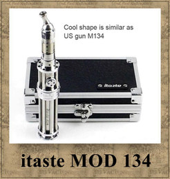 Wholesale Itaste Iclear Clearomizer - Innokin itaste 134 MOD Original itaste M134 iclear 30 atomizer Clearomizer Variable Wattage 18650 battery Luxury and Honored Vaporizer