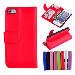 Wholesale Iphone Folding Cases - For iphone 5 5S Wallet Leather Folding Flip Case Cover With Photoframe Credit Card Holder Stand For iphone5 5G