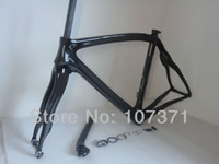 Wholesale Bicycle Bike Clamps Fork Frame - Newest OEM 700C 3K full carbon fibre bike frame Road carbon bicycle frame +carbon fork+seatpost+seat clamp+headset Free shipping