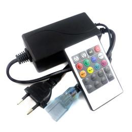 Vente en gros AC110 ~ 220V IR 20Keys Télécommande pour 110 V 220 V SMD 5050 3528 Haute Puissance RGB LED Sortie de Bande 1000 W