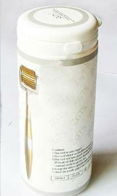 الجملة-دروبشيب zgts ديرما الأسطوانة 192 إبر التيتانيوم ، سبائك التيتانيوم إبرة ديرما الأسطوانة مع مقبض الذهبي ،