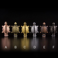 Wholesale Metal Drip Tip Style - Funny Style Tortoise Drip Tips Turtle Drip Tip Metal 510 EGO Atomizer Mouthpieces for CE4 CE6 DCT vivi nova innokin iClear 30 Clearomizer