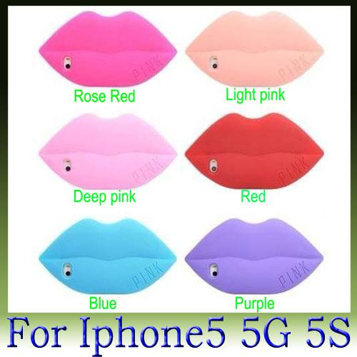 Victoria/'s Sexy 3D Full Lips Silicone Soft Case For iPhone 5 5S Lips Pink Lips So Cute for apple iPhone5