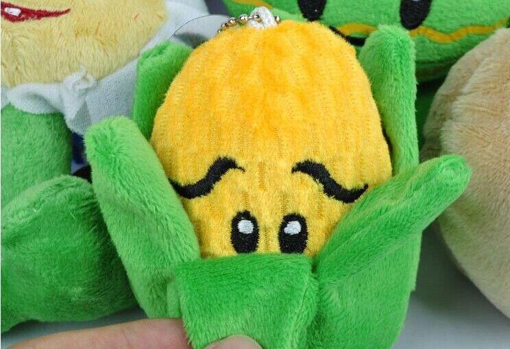 venta caliente mucho liberan el envío Plants vs Zombies relleno suave felpa muñeca de juguete tirador Tuerca flor
