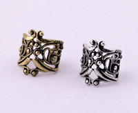 Wholesale Earring Clamps - Free Shipping Wholesales Fashion Hollow Type U Clamp Type Retro Ear Cuff Alloy Clip Earring