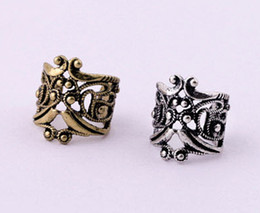Wholesale Ear Clamp Earrings - Free Shipping Wholesales Fashion Hollow Type U Clamp Type Retro Ear Cuff Alloy Clip Earring