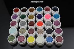Wholesale Nail Gel Solid Color - 30 Colors Glitter Uv Gel Set Solid Glitter Different Color Nail Art UV Builder Gel 2013 HOT Acrylic Set