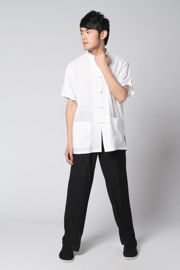 Shanghai Story Chinese Traditional clothing set Taiji clothing Tai chi uniform short sleeve tang suit Martial arts Kungfu suit