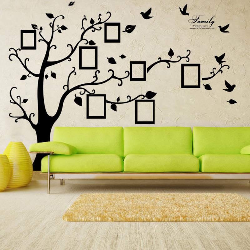 X Large Room Photo Frame Decoration Family Tree Wall Decal Sticker Poster  On A Wall Sticker Tree Wallpaper Kids Photoframe Art Right Facing Wall  Decor ...