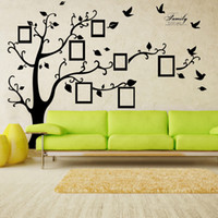 Wholesale Tree Photo Frame Stickers - X Large Room Photo Frame Decoration Family Tree Wall Decal Sticker Poster on a Wall Sticker Tree Wallpaper Kids Photoframe Art Right Facing