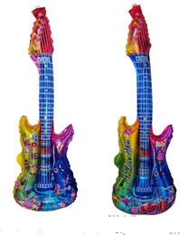 violão Desconto Novidade Música Concerto Guitarra Cheering Vara brinquedos Infláveis 83 CM X 30 CM Foil Balão fornecimento partido cor misturada ordem 100 pçs / lote