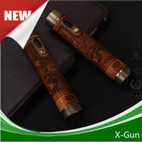 2017 Продажа Vision X Gun Mod Ecig Mechanical Wood 18650 Батарея переменного напряжения и мощности Dhl Free Ship