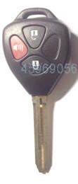 Wholesale Toyota Camry Car Key Blanks - KL35 for Toyota Camry Remote Key Shell 3 Button Toy43 key blade , car key blank