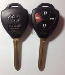 Wholesale Car Remote Shell Toyota - KL37 high quality Toyota Camry Remote Key Shell with 4 Buttons Toy43 key blade car key blank
